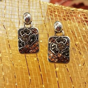 Brighton Cheetah Print Earrings